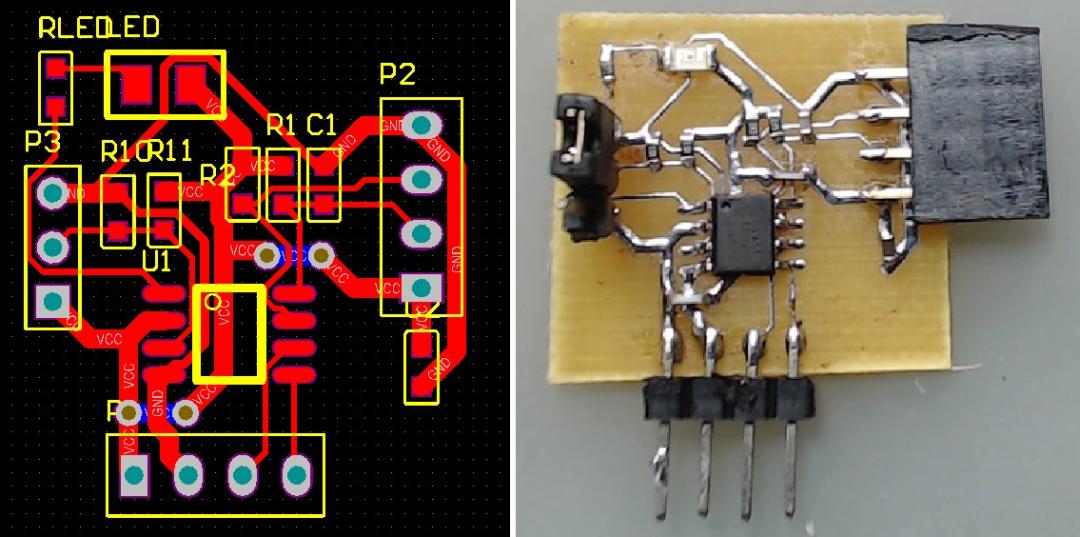 pcb 制版_使用STC8G1K08制作调频接收模块TEA5767配置电路-EDA/PCB-与非网